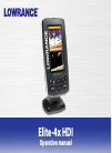 Lowrance ELITE-4X HDI Fish Finder Manual (35 pages)