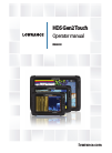 Lowrance HDS Gen2 Touch Fish Finder Manual (128 pages)