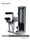 Matrix VS-S52 Home Gym Manual (32 pages)
