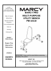 Marcy PM-10110 Home Gym Manual (17 pages)