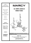 Marcy MWB-70205 Home Gym Manual (14 pages)