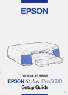 Epson Stylus Pro 5000 Printer Manual (100 pages)