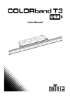 Chauvet COLORBAND H9 USB DJ Equipment Manual (19 pages)