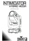 Chauvet Intimidator Hybrid 140SR DJ Equipment Manual (76 pages)