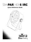 Chauvet SlimPAR HEX 6 IRC DJ Equipment Manual (44 pages)