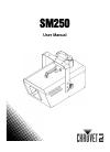 Chauvet SM250 DJ Equipment Manual (14 pages)