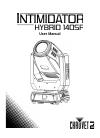 Chauvet Intimidator Hybrid 140SR DJ Equipment Manual (32 pages)