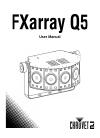 Chauvet FXarray Q5 DJ Equipment Manual (18 pages)