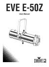 Chauvet EVE E-50Z DJ Equipment Manual (15 pages)