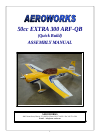 AeroWorks 50cc EXTRA 260 ARF-QB Toy Manual (85 pages)