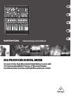 Behringer X32 DIGITAL MIXER DJ Equipment Manual (31 pages)