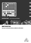 Behringer CMD TOUCH TC64 DJ Equipment Manual (13 pages)