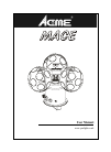 ACME MACE DJ Equipment Manual (8 pages)