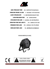 afx light PARLED1820IR DJ Equipment Manual (43 pages)