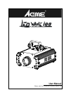 ACME LED WAVE 100 DJ Equipment Manual (15 pages)