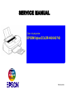 Epson Stylus Color 640 Printer Manual (209 pages)