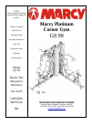 Marcy GS 99 Home Gym Manual (30 pages)