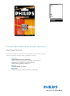 Philips DLA93050 MP3 Player Accessories Manual (2 pages)