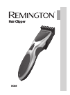 Remington HC335 Hair Clipper Manual (120 pages)